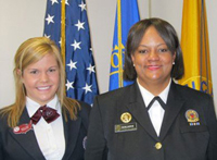 Claire Lucas ('13) with Dr. Regina Benjamin, Surgeon General of the United States Public Health Service.