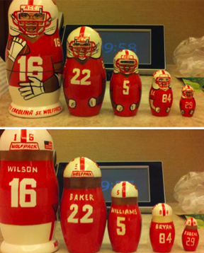 NC State Russian nesting dolls