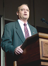 Dr. Jon Ort spoke at the 2008 regional extension conference in Raleigh.