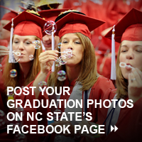 Post your graduation photos on NC State's Facebook Page