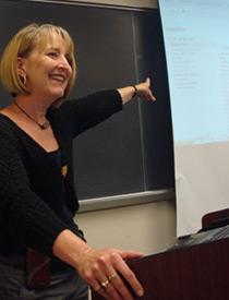 Kay Sandberg teaching organic chemistry.