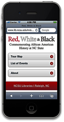 Red, White and Black app