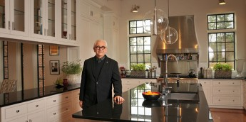 Dean Malecha in the kitchen he designed.
