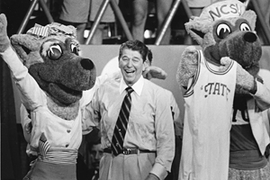 President Reagan with Mr. and Ms. Wuf