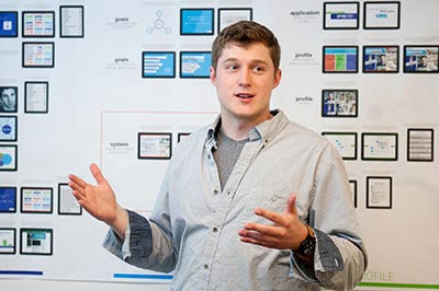 2014 master's of graphic design grad Ryan Foose