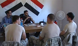 Soldiers in classroom