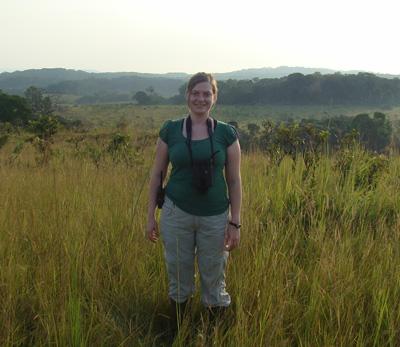 Schuttler in Gabon. Photo courtesy of Stephanie Schuttler.
