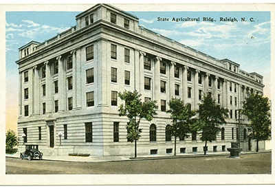 The State Agricultural Building was designed by the Raleigh architecture firm Nelson and Cooper.