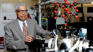 Jay Narayan, working in his lab, won the North Carolina Award for Science in 2014.