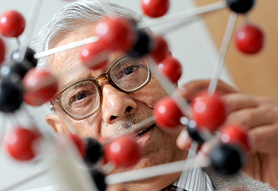 Dr. Jay Narayan receives the state's top honor for scientific achievement for his pioneering work in materials science.