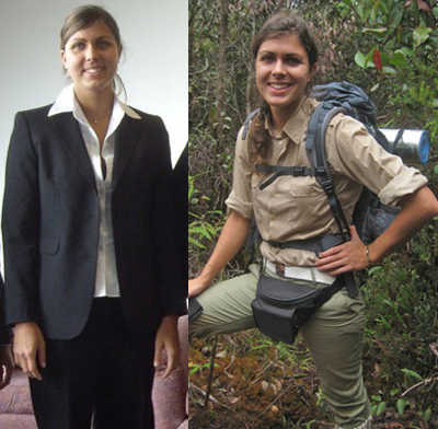 Before and after becoming a scientist. Photo courtesy of Magdalena Sorger.
