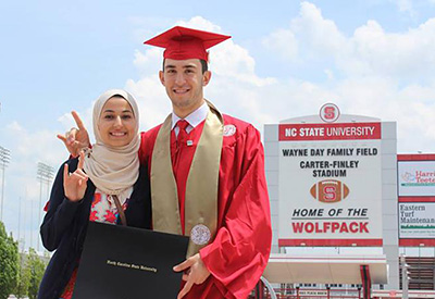 Yusor Abu-Salha and Deah Barakat at Carter-Finley.