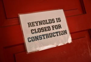 Now that Reynolds is empty, construction will begin next week.
