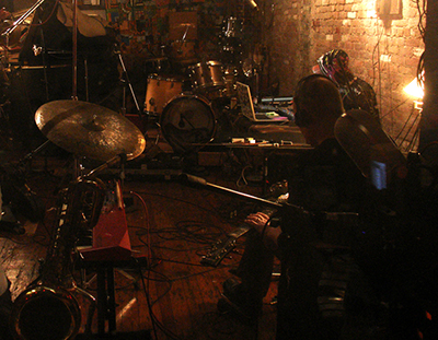 Bivins in the recording studio (on right). Image courtesy of Jason Bivins.