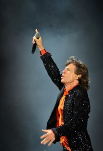 Mick Jagger at Carter-Finley Stadium. (Photo by Roger Winstead)