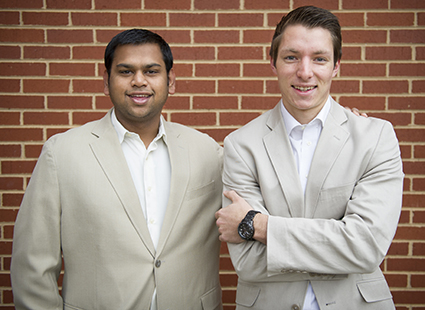 Suraaj Doshi (left) and Kyle Linton of Nicotrax. Photo courtesy of Kyle Linton. Click to enlarge.