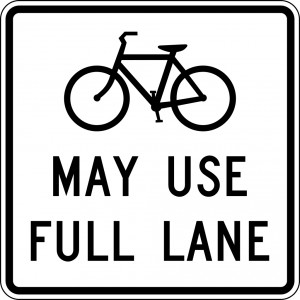 Bicycles May Use Full Lane sign