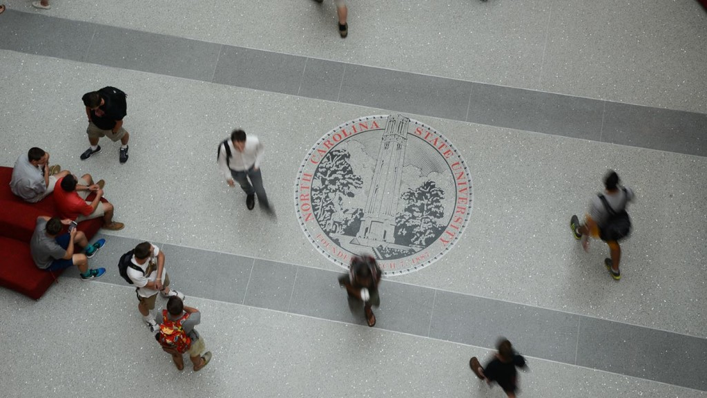 Students walk through Talley Student Union.