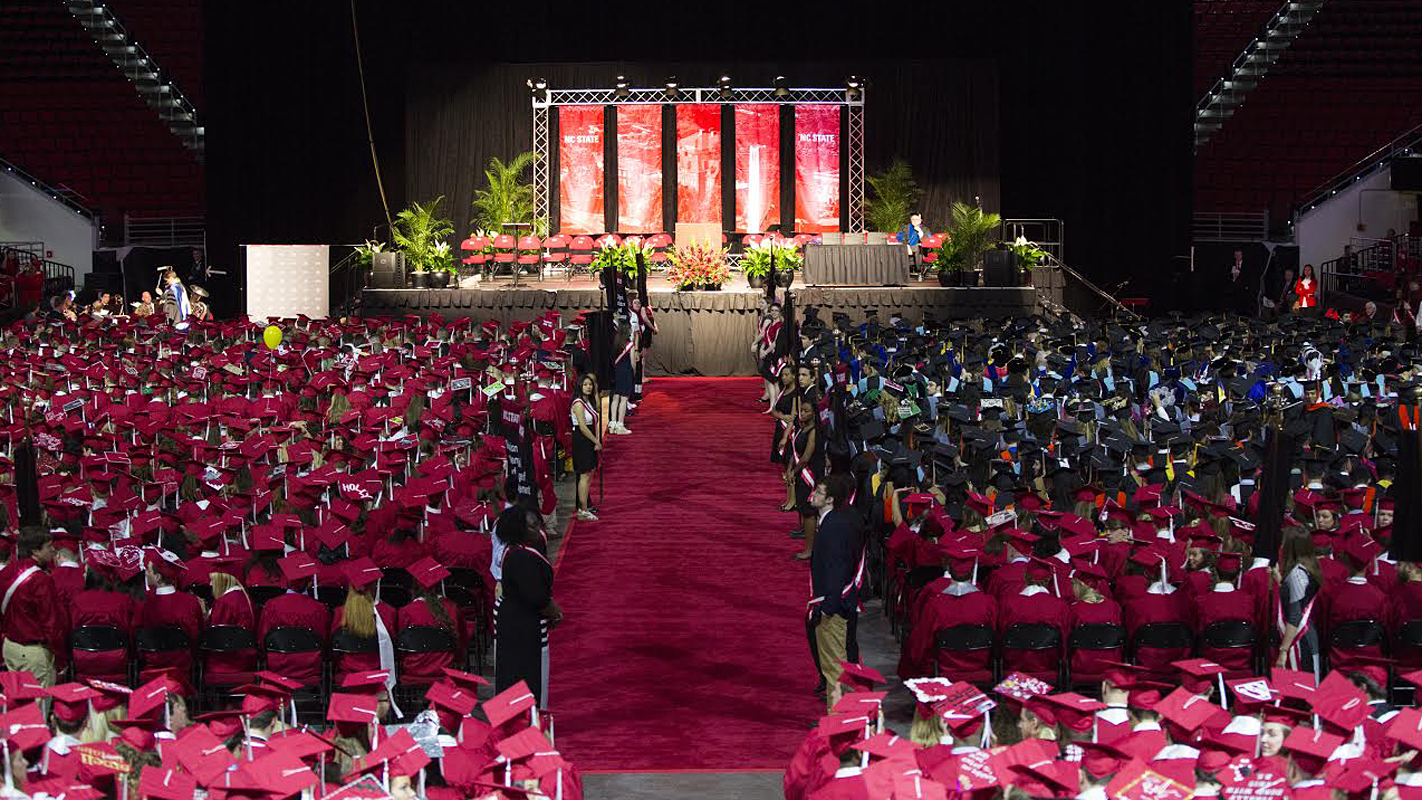 NC State commencement ceremony