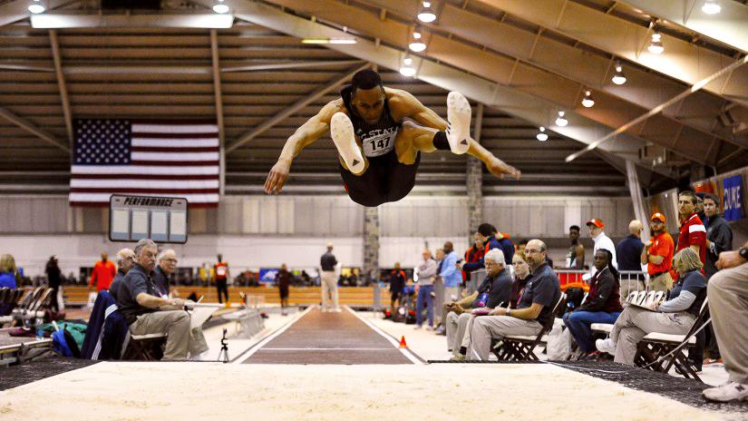 Olympic trialist and engineering grad Jonathan Addison in full flight.