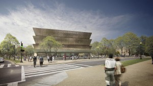 An artist rendering of the National Museum of African-American History and Culture.