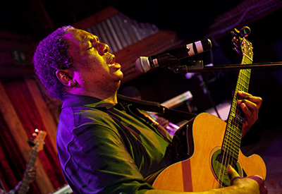 "Vusi Mahlasela is simply known as ""The Voice"" in his native South Africa."