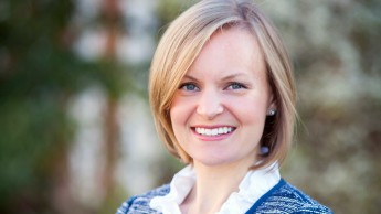 A portrait of Brooke Shurer, who earned master's and doctoral degrees in education while at NC State.