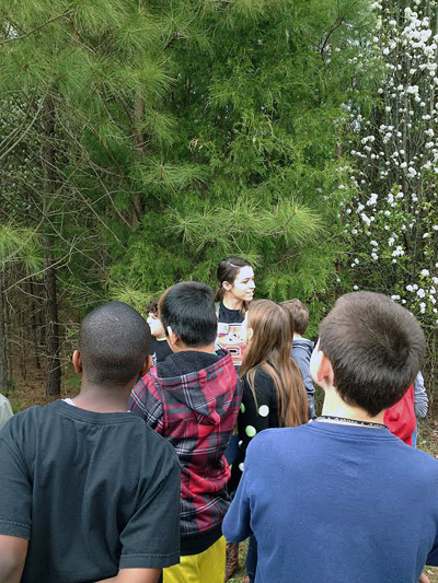 Students spend time outdoors in an NC State-led environmental education class.