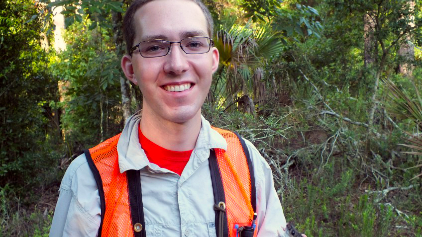 NCState graduate, Raleigh native and bat biologist Sam Freeze.