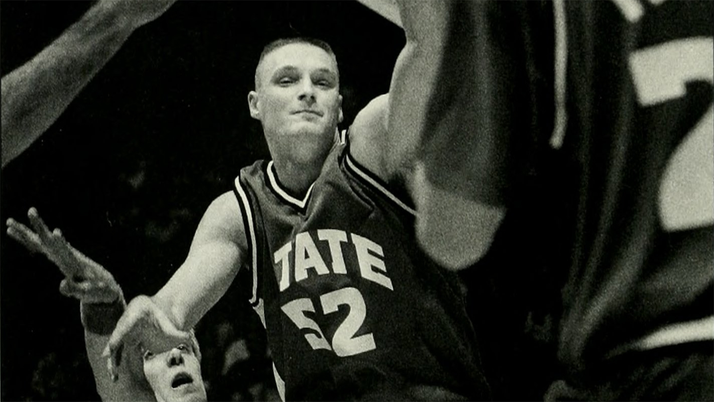 Todd Fuller during his playing career as a basketball legend at NCState.