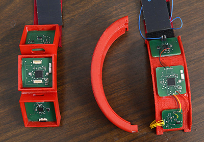 A prototype of the HET wristband. Photo credit: NC State University. Click to enlarge.