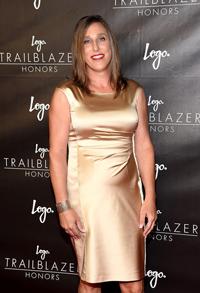 Alaina Kupec at the Logo Trailblazer Awards in New York.