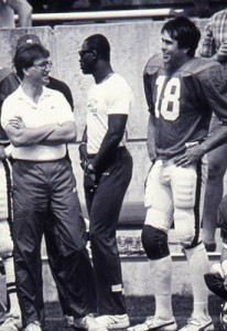 Roman Gabriel on the sidelines with Dave Buckey