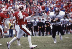 Quarterback Erik Kramer against South Carolina in 1986.