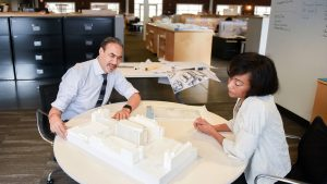 NCState alumnus Phil Freelon at his architecture firm in Durham, N.C.