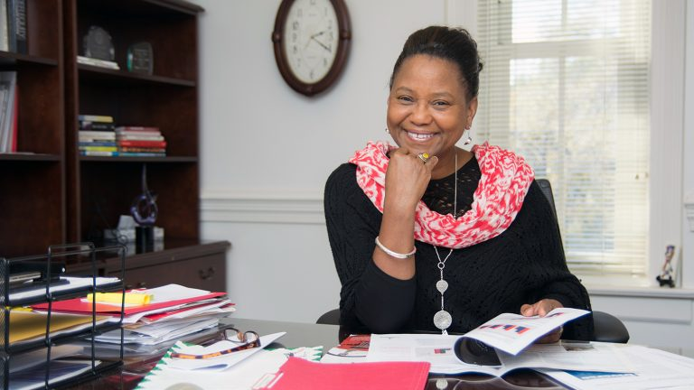 A portrait of Linda McCabe Smith, vice chancellor for institutional equity and diversity at NC State.