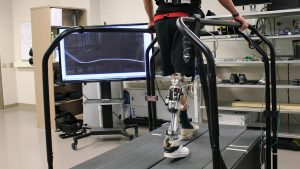 Prosthetics research in Helen Huang's lab