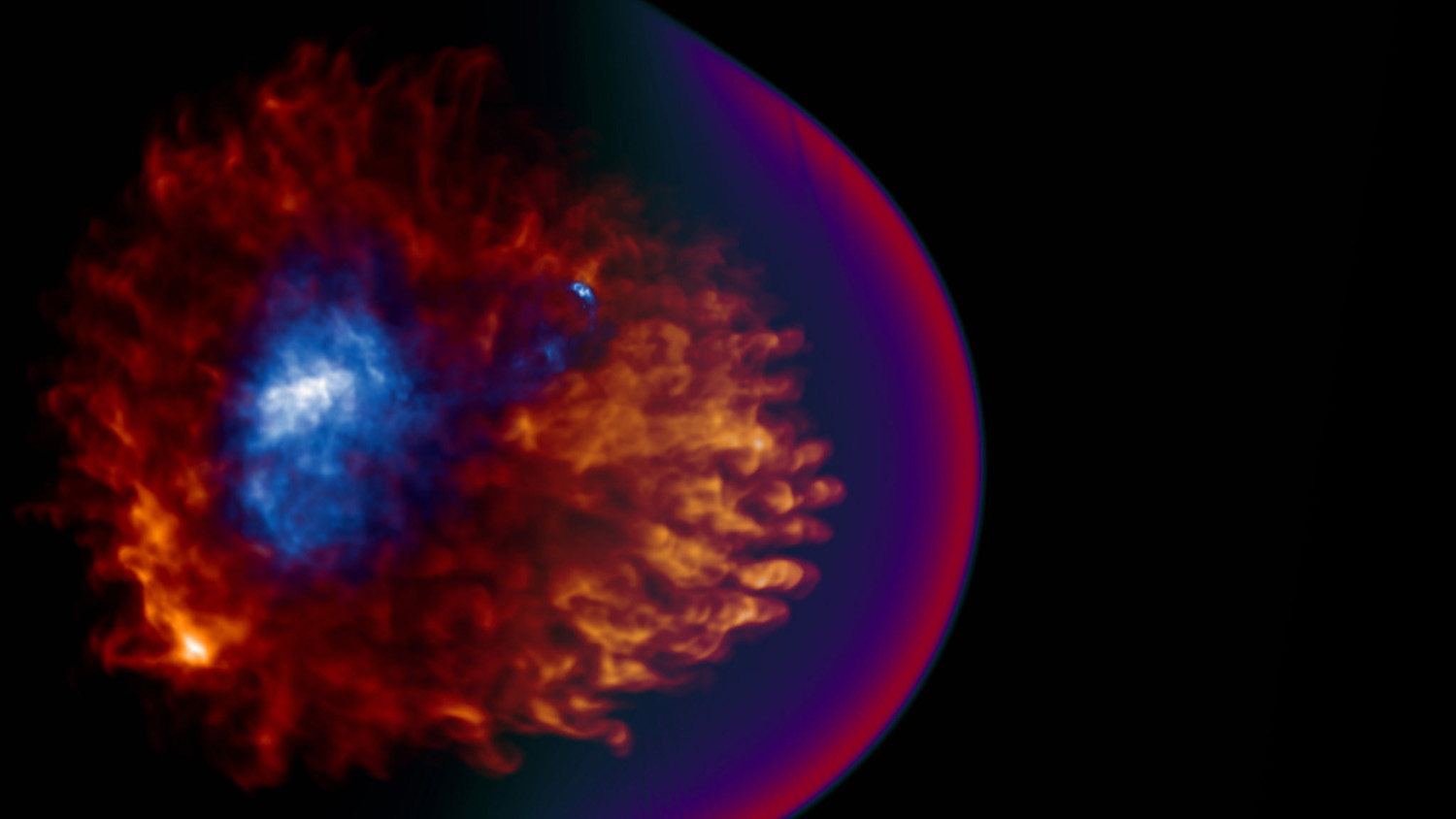 """""""Supernova Remnant Simulations,"""" by Christopher Kolb, was the first place winner of the graphics and illustration category in 2016's contest."""