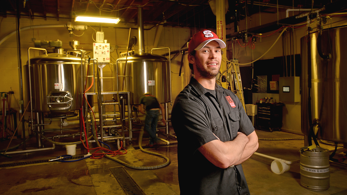 NC State biology alumnus Scott Craddock is now a key member of the brew team at Raleigh Brewing Company.