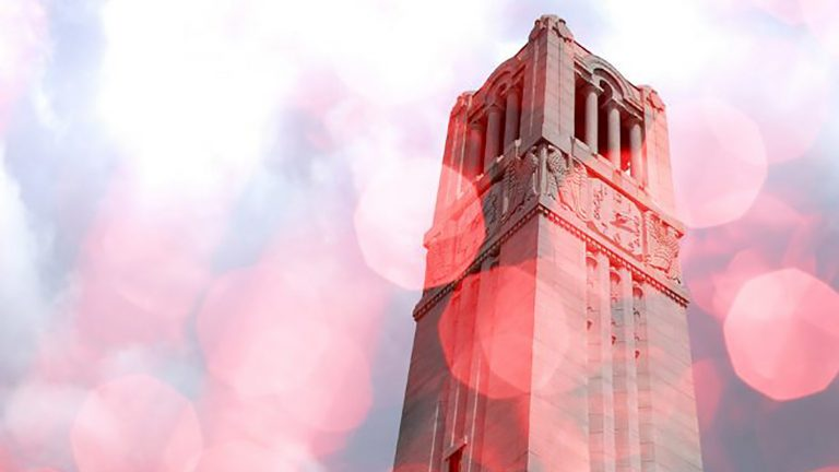 The Belltower at NC State.