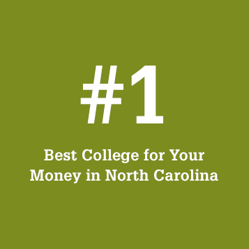 #1 Best College for Your Money in North Carolina