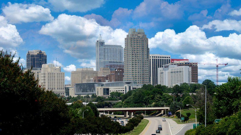the downtown Raleigh skyline