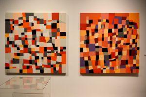 Robert Black's Mystique #2 and Mystique #4 (2010 — acrylic on canvas)