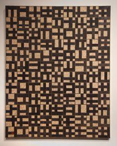 Robert Black's Hieroglyph (1997 — acrylic over paper on canvas)
