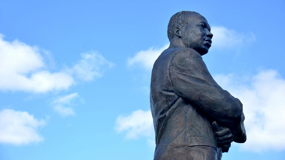 A statue of Martin Luther King Jr. in Rocky Mount, North Carolina.