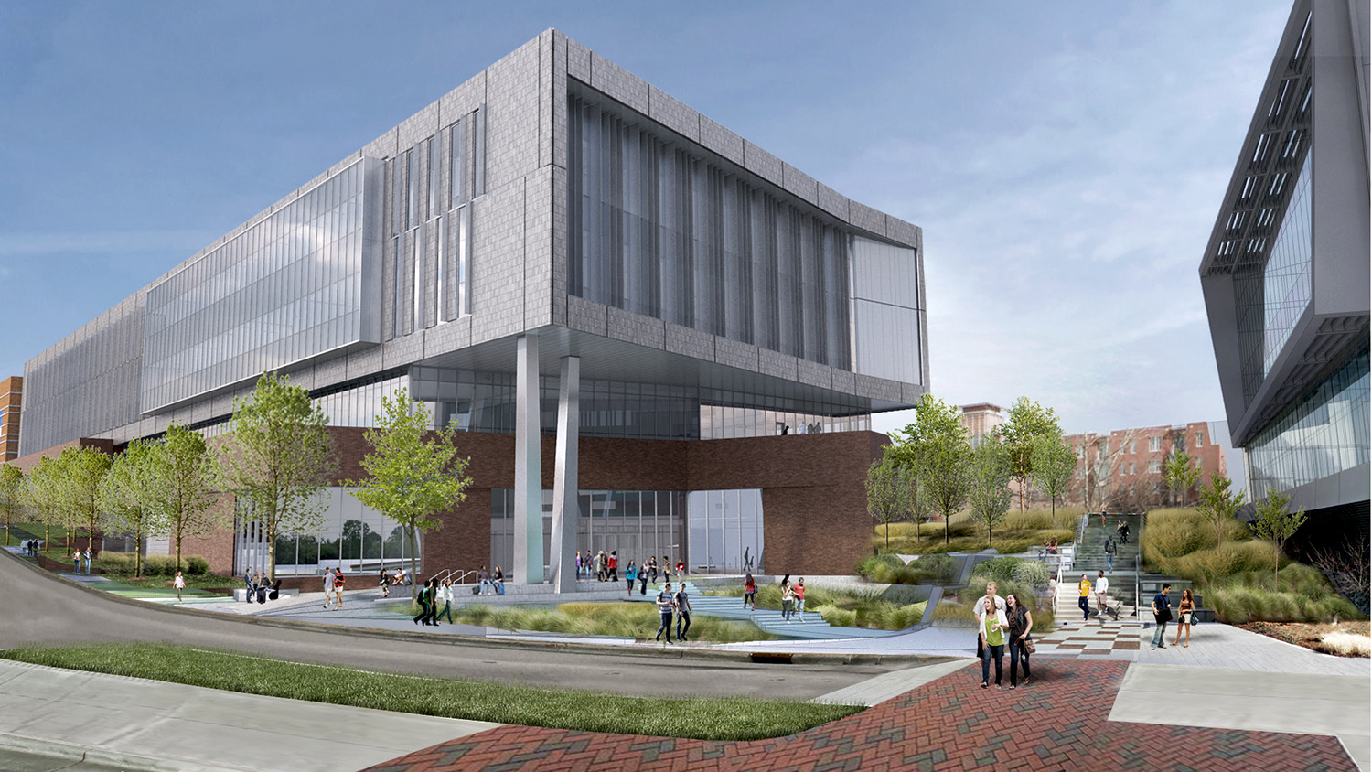 A rendering of the new Fitts-Woolard Hall on Centennial Campus.