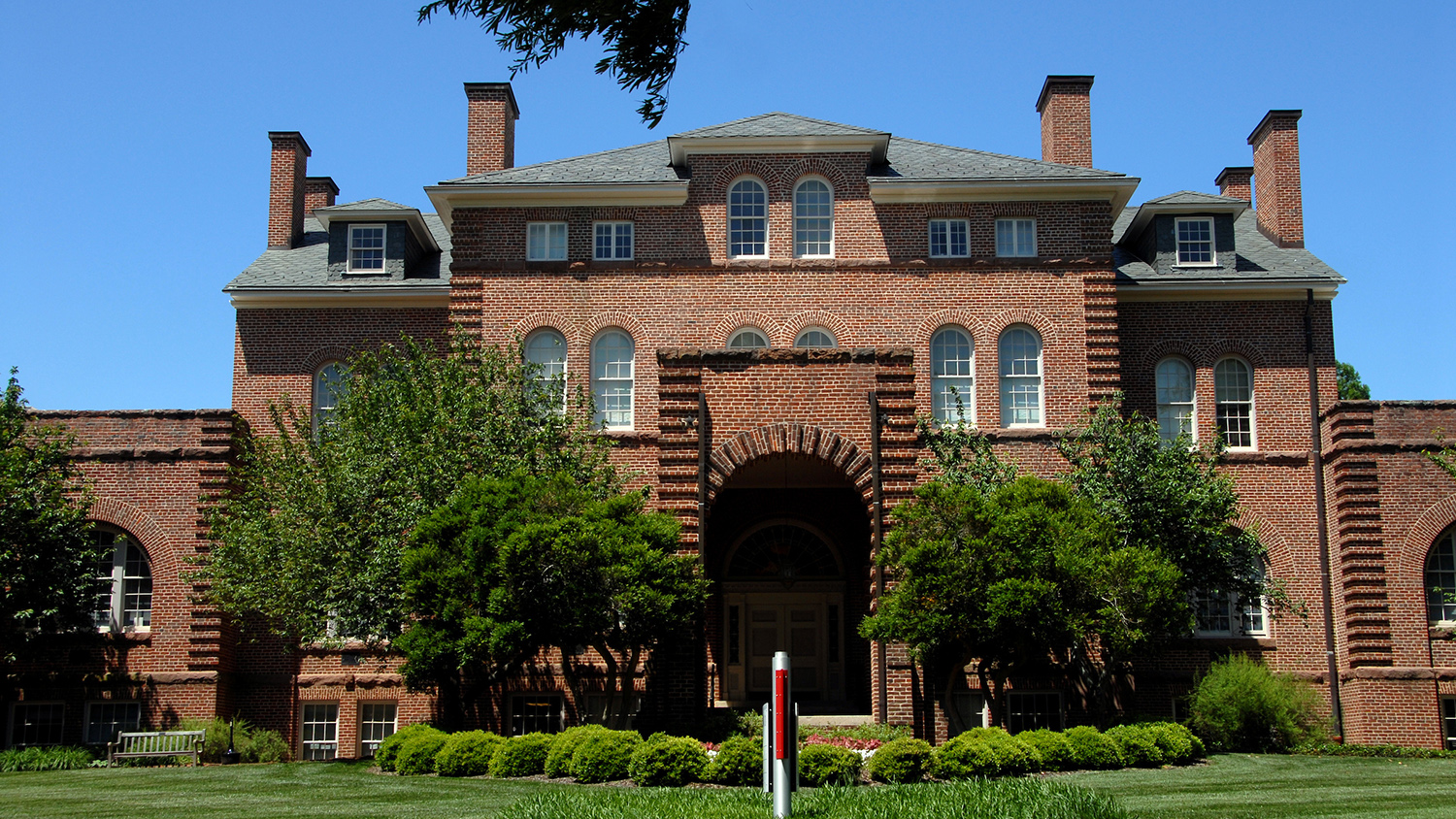 Holladay Hall, a brick building on east campus