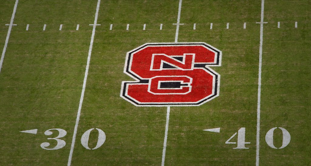 "Block ""S"" logo on Carter-Finley Stadium"