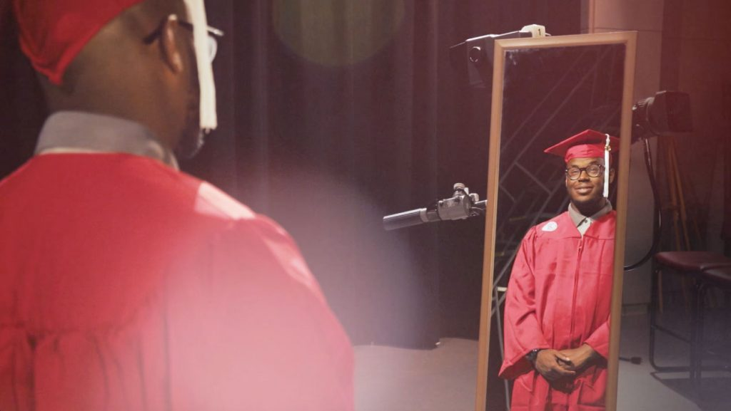 Members of #NCState18 talk about wearing their cap and gown.