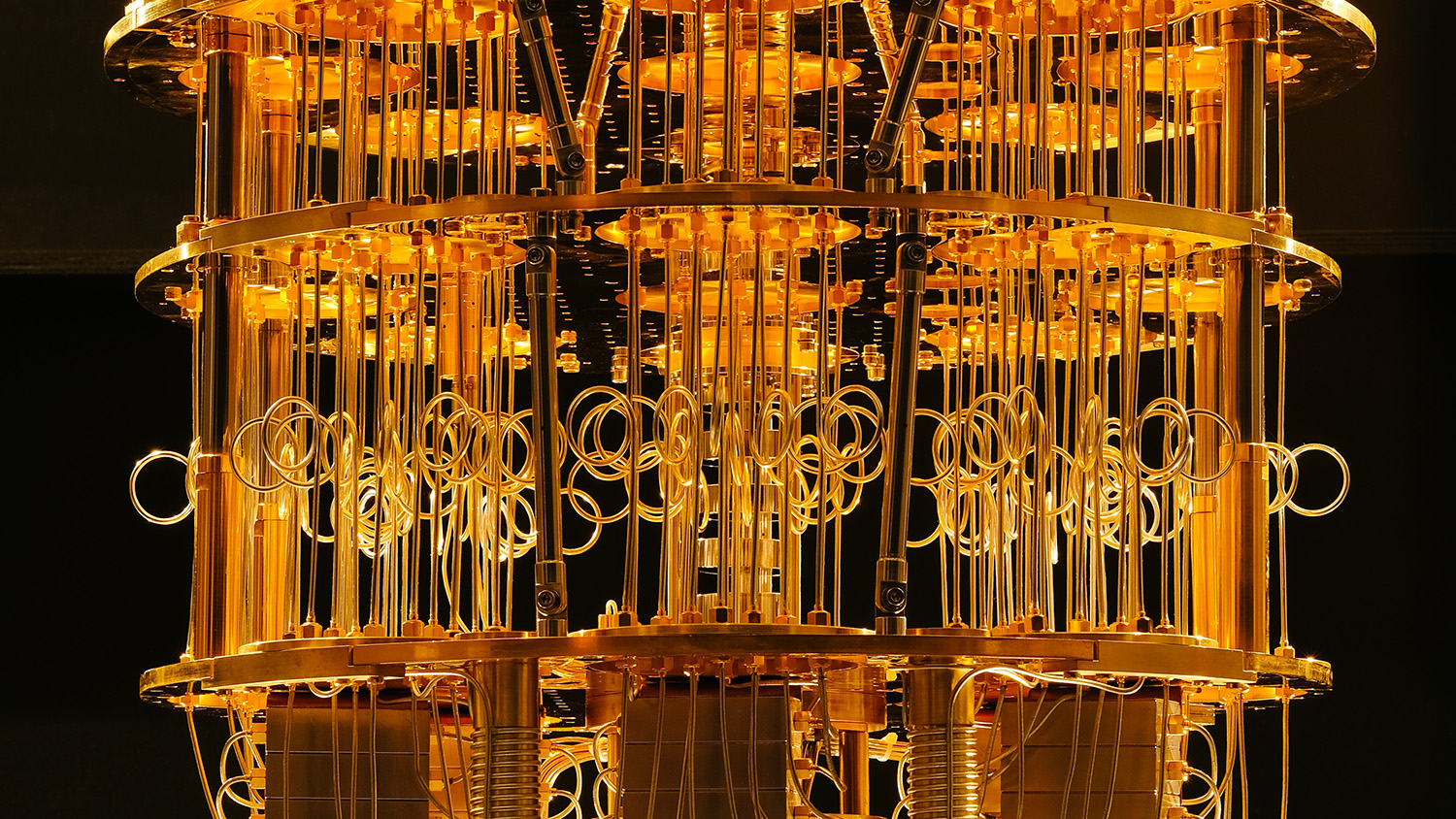 The workings of part of a quantum computer.